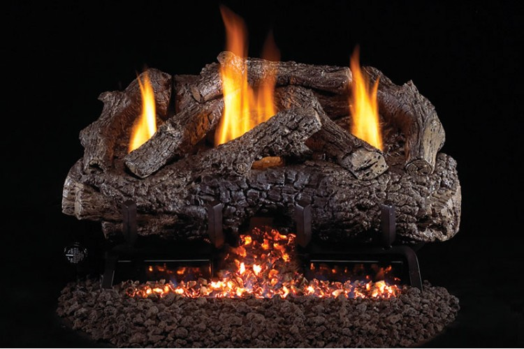 Real Fyre Charred Frontier Oak Vent Free Logs With G10 Burner