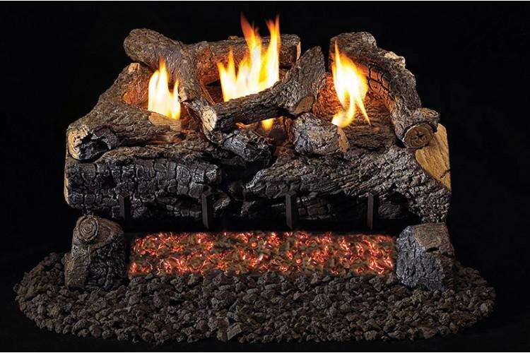 Real Fyre Evening Fyre Charred Logs With G18 Vent Free Burner