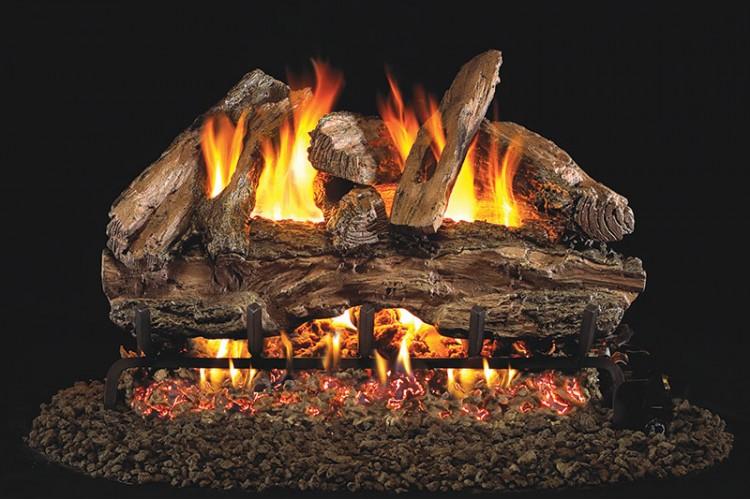 Real Fyre Designer Series Red Oak Logs With G46 Series Burner